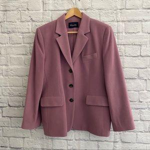 VINTAGE Pink Cashmere Wool Blend Blazer Jacket